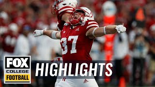 Nebraska rebounds from Week 2 loss with 44-8 win over N. Illinois | FOX COLLEGE FOOTBALL HIGHLIGHTS