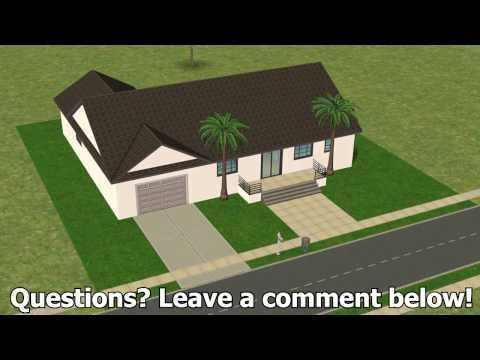 The Sims 2: Building an Attached Garage WITH COMMENTARY!