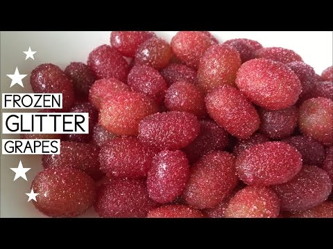 HEALTHY CANDY RECIPE ~ Frozen Glitter Grapes