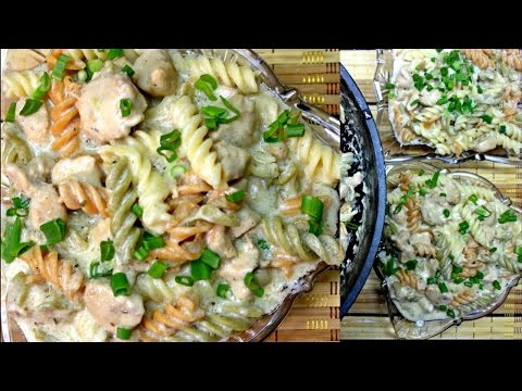 Rainbow Chicken Noodles - Chicken Pasta Recipe - White Sauce Pasta