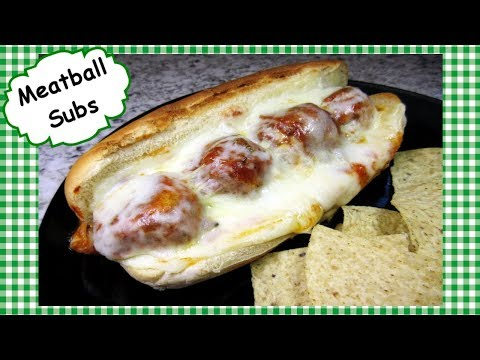 The BEST Meatball Subs Recipe ~ How to Make Meatballs & Sub Sandwich Hoagie