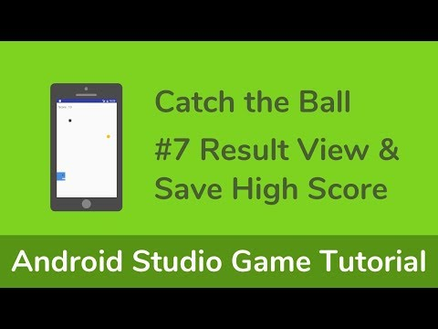 [Game1] Android Studio Game Tutorial - #7 Result View & Save High Score