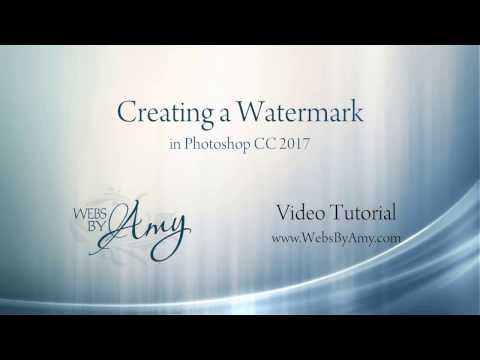 Creating a Watermark with Adobe Photoshop CC