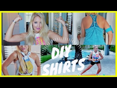 ❋ DIY Workout Shirts [NO SEW] ❋ | Reconstruct your old T-shirts!