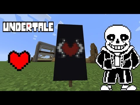 How to make an UNDERTALE Banner in Minecraft!