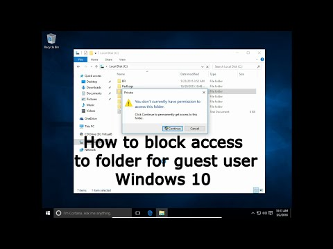 How to block access to folder for guest user Windows 10