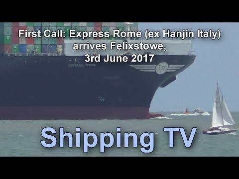 First Call: Express Rome arriving Felixstowe, 4 June 2016