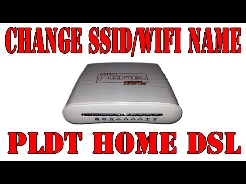 How to Change PLDT Home DSL SSID or WiFi Name