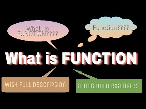 What is a function? | Functions and their problems |