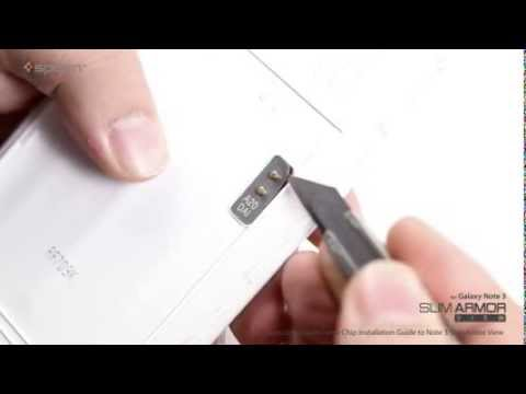Spigen Samsung S View Cover Chip Installation Guide to Note 3 Slim Armor View