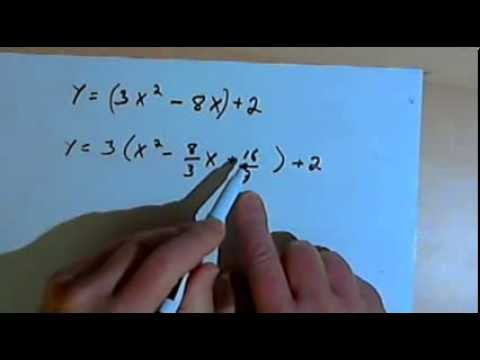 Completing the Square to find the Vertex Form 143-3.2.0