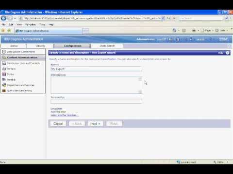 Cognos 10 Training - Administration Deployment  - Part 19 of 30