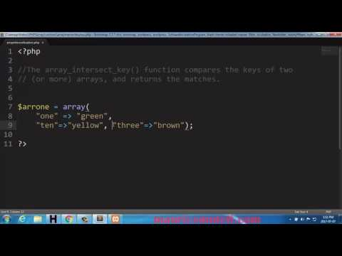 PHP array intersect key Function