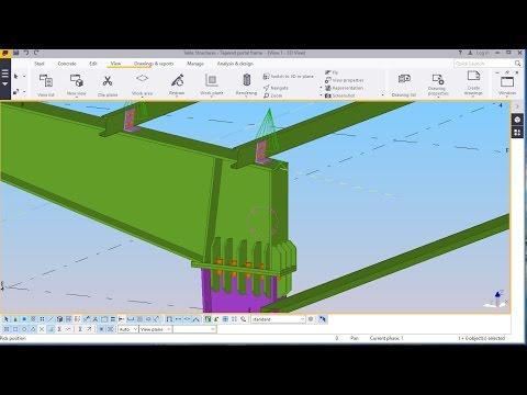 Best Tapered Portal Frame Structure Modelling in TEKLA STRUCTURE