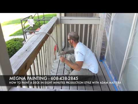 HOW TO PAINT A DECK WITH STAIN IN 8 MINUTES
