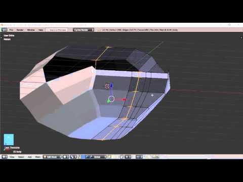 Blender For Noobs - Spaceship tutorial - Part 4 of 12