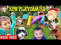 New Playground 🎵 Raptain Hook (Giant Playground Surprise from DINOSAUR! 5 Slides!!! Music Video)