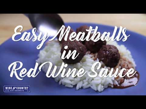 Quick Bites: Easy Meatballs in a Red Wine Sauce
