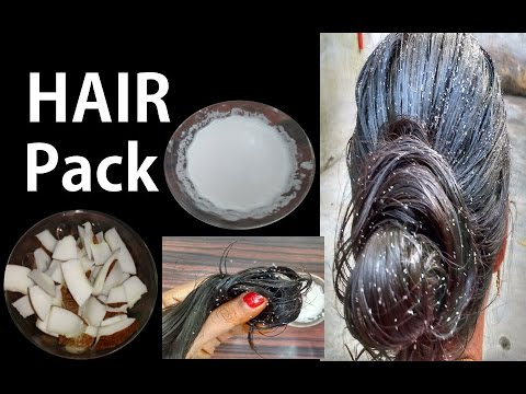 how to make coconut milk for hair | coconut milk for hair straightening, milk cream hair treatment