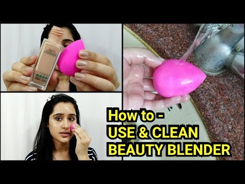 How to do makeup with BEAUTY BLENDER + CLEAN THE BEAUTY BLENDER
