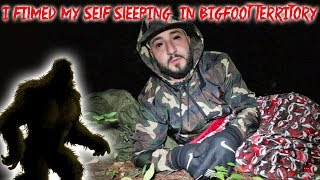 I FILMED MY SELF SLEEPING IN BIG FOOT FOREST! *I GOT BADLY INJURED* PART 1 | MOE SARGI