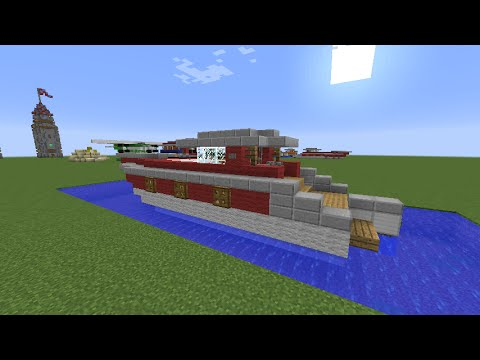 Minecraft how to build a personal yacht