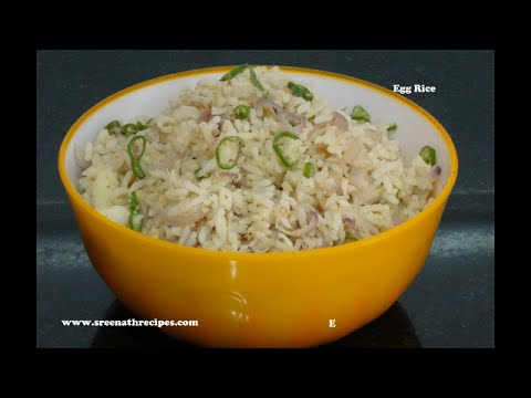 Egg Rice Recipe / Quick Lunch Box Recipe