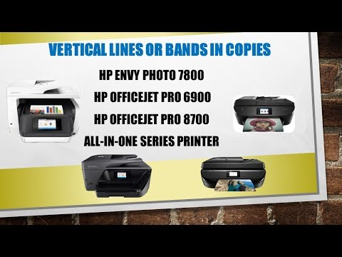 HP AiO Printers : Resolving Vertical lines or bands on copied or scanned document