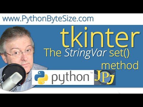 The Python tkinter StringVar set() method