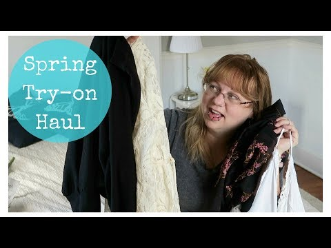 Spring clothing try-on haul; Target & Free People + l'Oreal mascara & NYX eyeliner review
