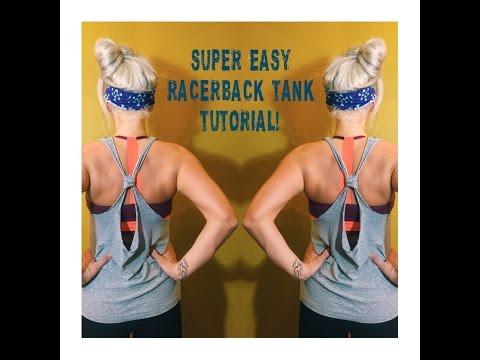 Easy DIY Racerback Tank Tutorial!