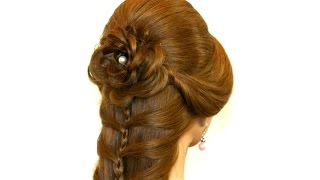 Messy Khajuri Hairstyle For Bridal Engagement Hairstyle