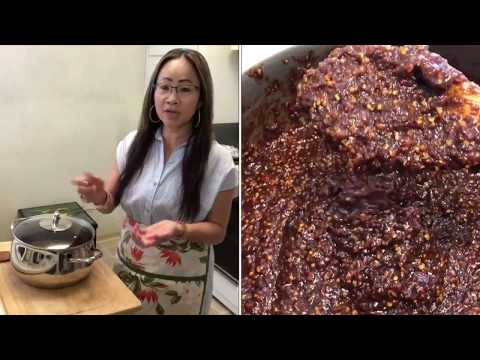 How to make jeow bong Lao spicy/Naly's kitchen.