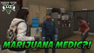 GTA V RP - FiveM - Illegal money (Weed) & Police intervention during