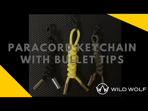 Paracord Keychain with Bullet Tips - Using Snake Knots and .22 Caliber Casings