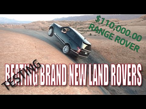 3 Brand New Land Rovers off road in MOAB $250,000 worth