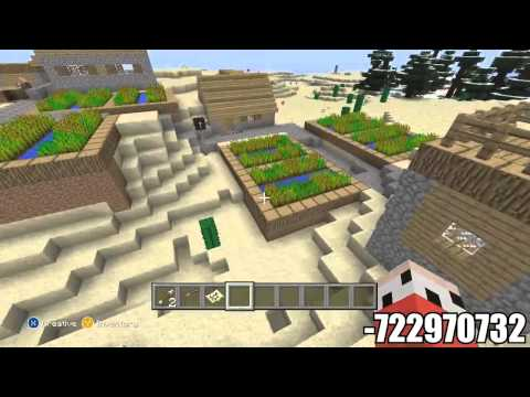 Minecraft (PS3 / XBOX360) Naturally Spawning Iron Golem & Baby Villagers