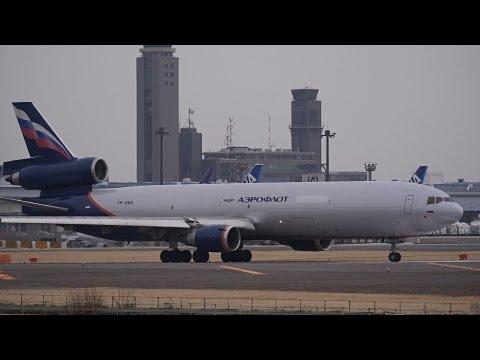 Aeroflot Russian Airlines MD-11F VQ-BDQ Landing and Takeoff 【NRT/RJAA】
