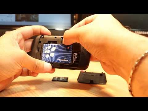 SD card put and remove from BlackBerry curve 8520