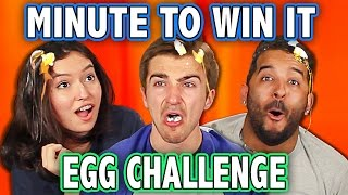 MINUTE TO WIN IT EGG ROULETTE CHALLENGE! (ft. Teens React Cast) | Challenge Chalice