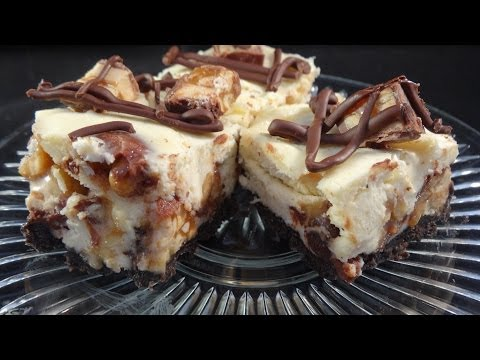 Snickers Bars Cheesecake - with yoyomax12