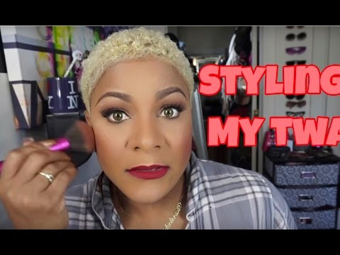 How To  Style Short Bleach Blonde Curly Hair With Natural Hair  Care Products