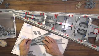 Star Wars Lego Executor Class Star Destroyer 10221 Real Time Build Video 5