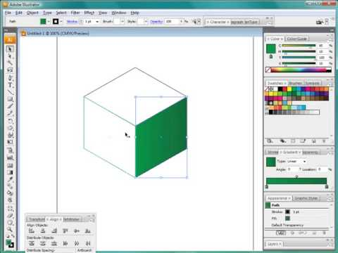 Cool Illustrator - cube and cone