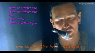 U2  With Or Without You  Live 1987  Lyrics