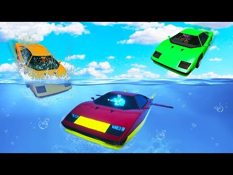 RACING UNDERWATER SUPERCARS!? (GTA 5 Funny Moments)