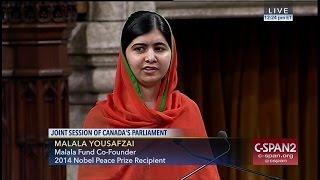 Malala Yousafzai addresses Canadian Parliament -- FULL SPEECH -- (C-SPAN)
