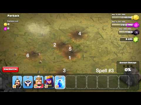 Clash of Clans - Lightning Spell Mastery!