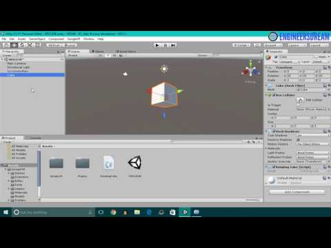 37.ROTATING A CUBE IN VIRTUAL REALITY | BUILD VIRTUAL REALITY GAMES FOR GOOGLE CARDBOARD USING UNITY