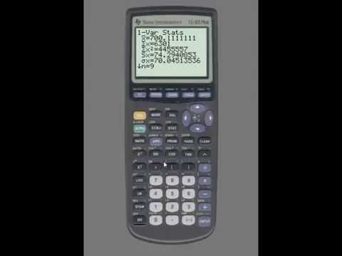 TI-83: Mean, Standard Deviation, Quartiles, 5-Number Summary